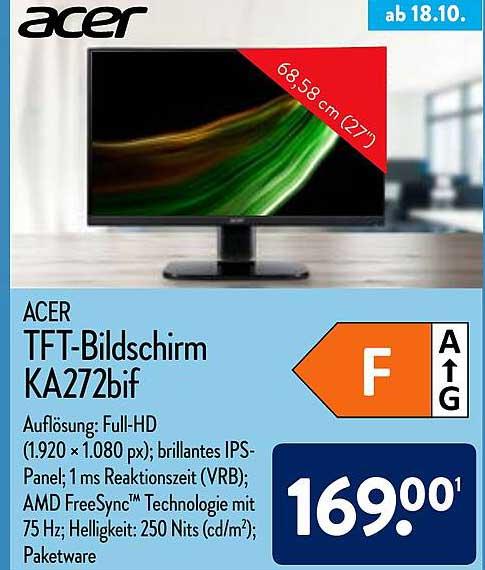 ALDI Nord Acer Tft-bildschirm Ka272bif