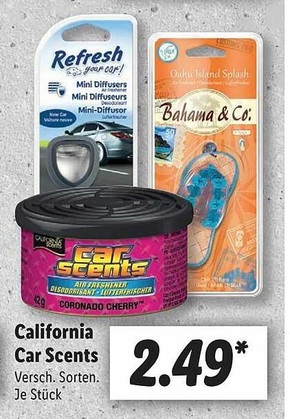Lidl California Car Scents