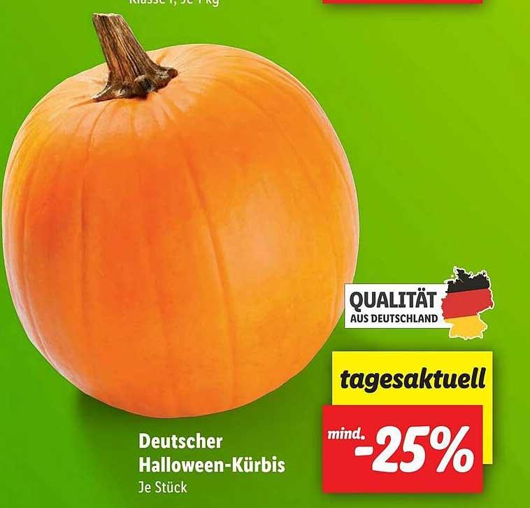 Lidl Deutscher Halloween-kürbis