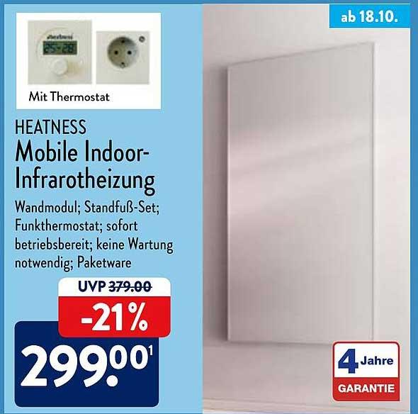 ALDI Nord Heatness Mobile Indoor-infrarotheizung