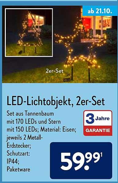 ALDI Nord Led-lichtobjekt, 2er-set