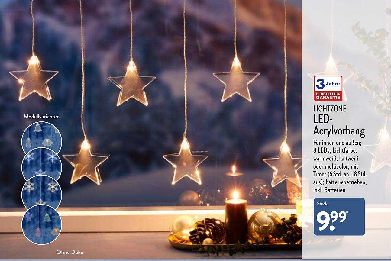 ALDI Nord Lightzone Led-acrylvorhang