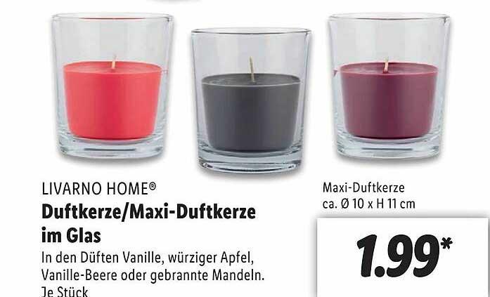 Lidl Livarno Home Duftkerze Oder Maxi-duftkerze Im Glas