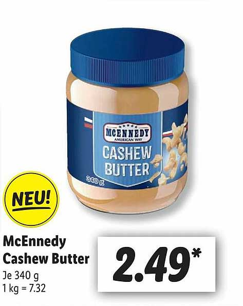 Lidl Mcennedy Cashew Butter