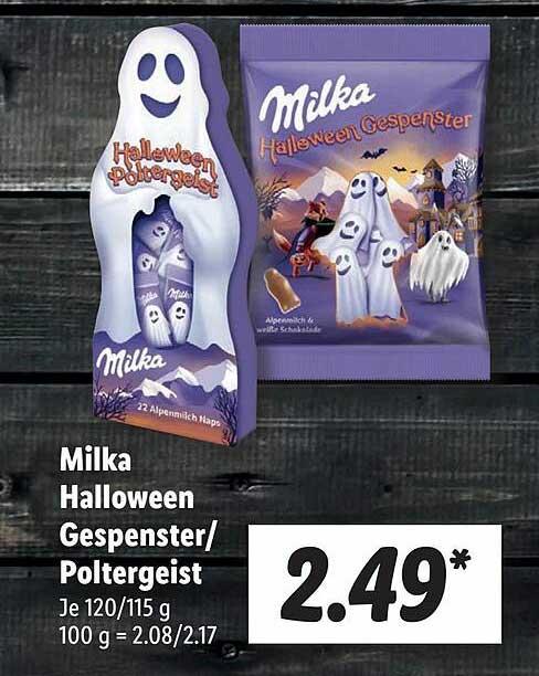 Lidl Milka Halloween Gespenster Oder Poltergeist