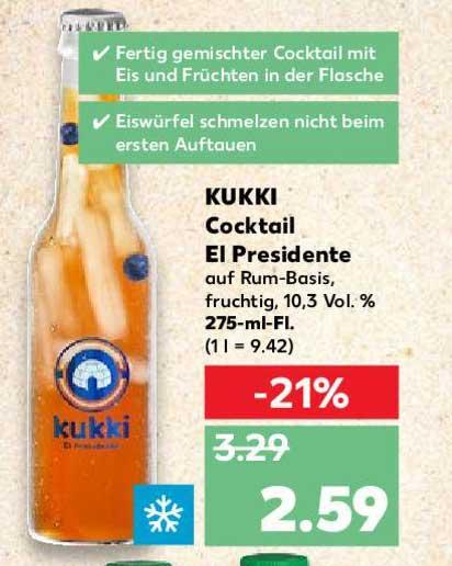 Kaufland Kukki Cocktail El Presidente
