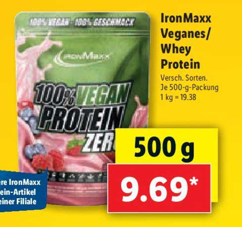 Lidl Ironmaxx Veganes - Whey Protein