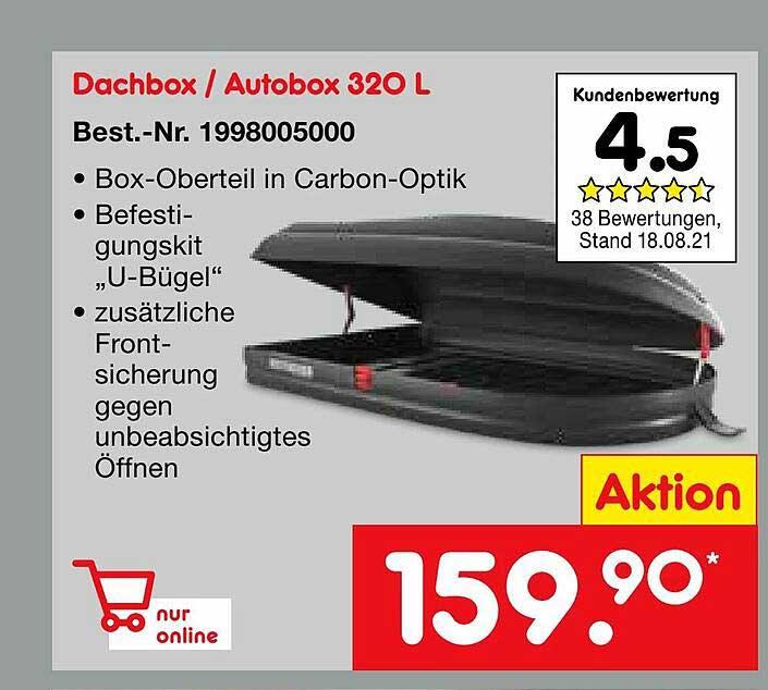 Netto Marken-Discount Dachbox Oder Autobox 320 L