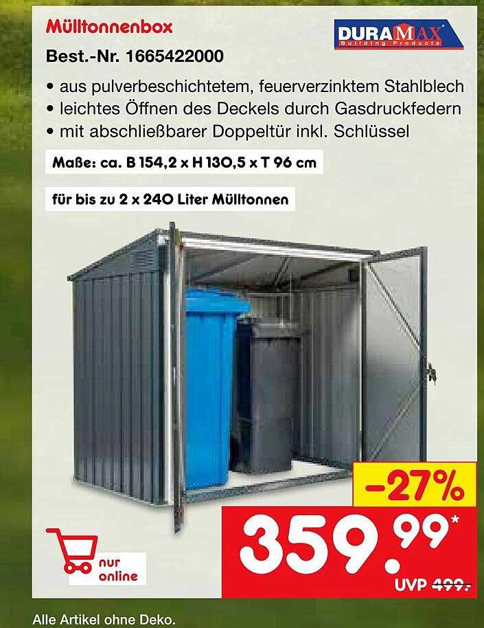 Netto Marken-Discount Duramax Mülltonnenbox