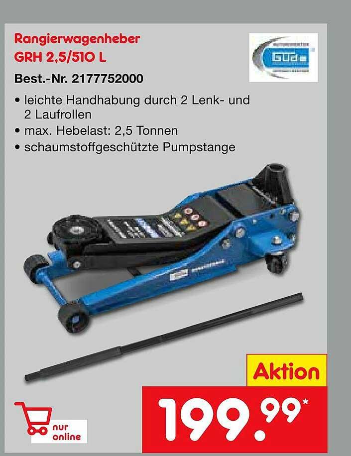 Netto Marken-Discount Güde Rangierwagenheber Grh 2.5-510 L