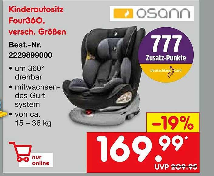 Netto Marken-Discount Osann Kinderautositz Four360