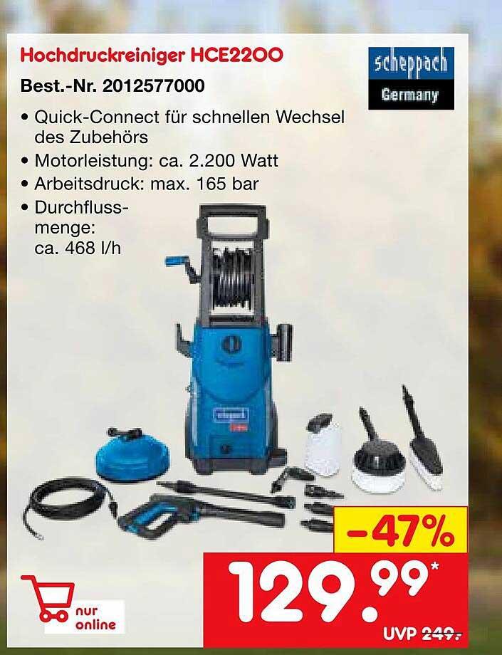 Netto Marken-Discount Scheppach Hochdruckreiniger Hce2200