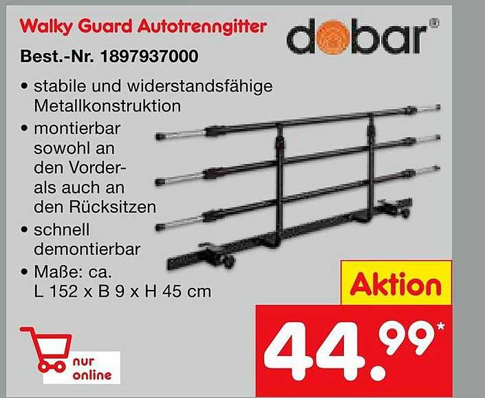 Netto Marken-Discount Walky Guard Autotrenngitter Dobar