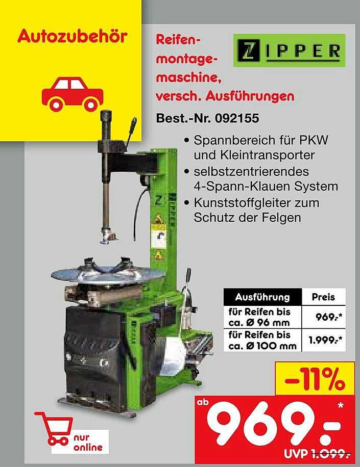 Netto Marken-Discount Zipper Reifenmontagemaschine