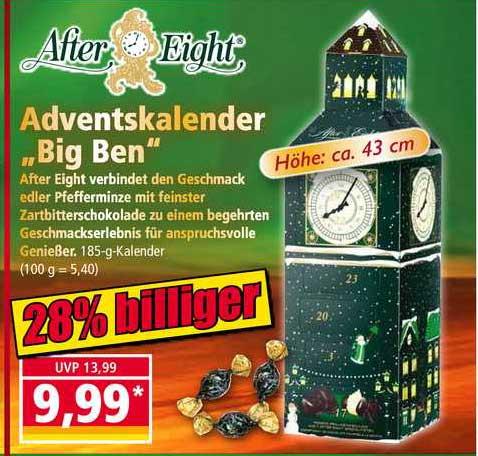 "NORMA After Eight Adventskalender ""big Ben"""
