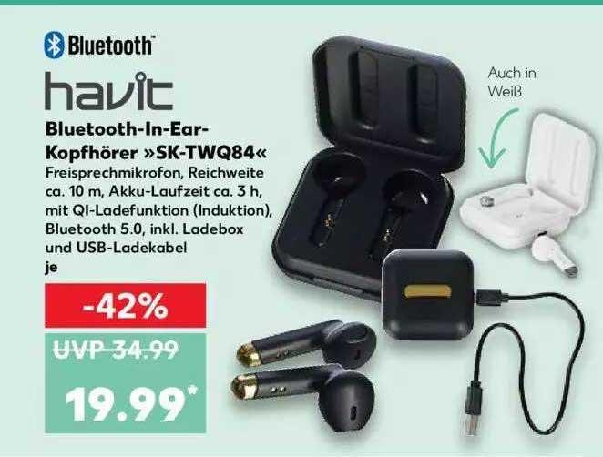 Kaufland Havit Bluetooth-in-ear-kopfhörer Sk-twq84