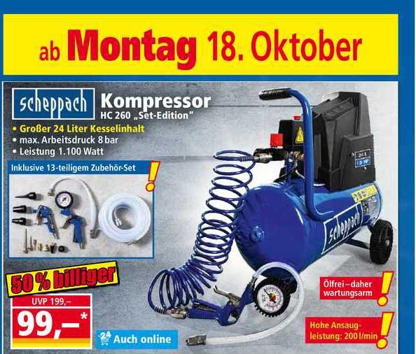 NORMA Scheppach Kompressor Hc 260 Set-edition