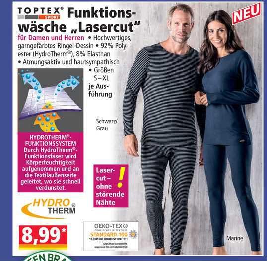 "NORMA Toptex Funktionswäsche ""lasercut"""