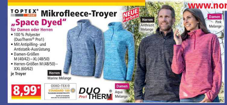 """NORMA Toptex Mikrofleece-troyer """"space Dyed"""""""