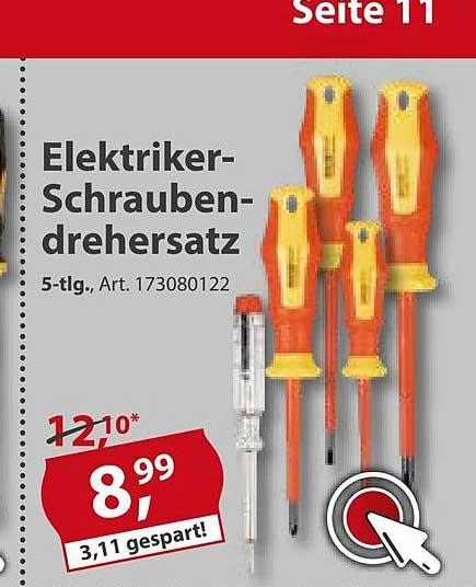 Sonderpreis Baumarkt Elektriker-schraubendrehersatz