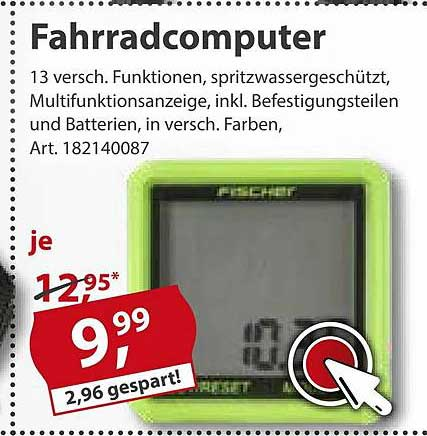 Sonderpreis Baumarkt Fahrrandcomputer