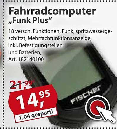 """Sonderpreis Baumarkt Fischer Fahrradcomputer """"funk Plus"""""""