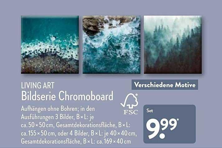 ALDI Nord Living Art Bildserie Chromoboard