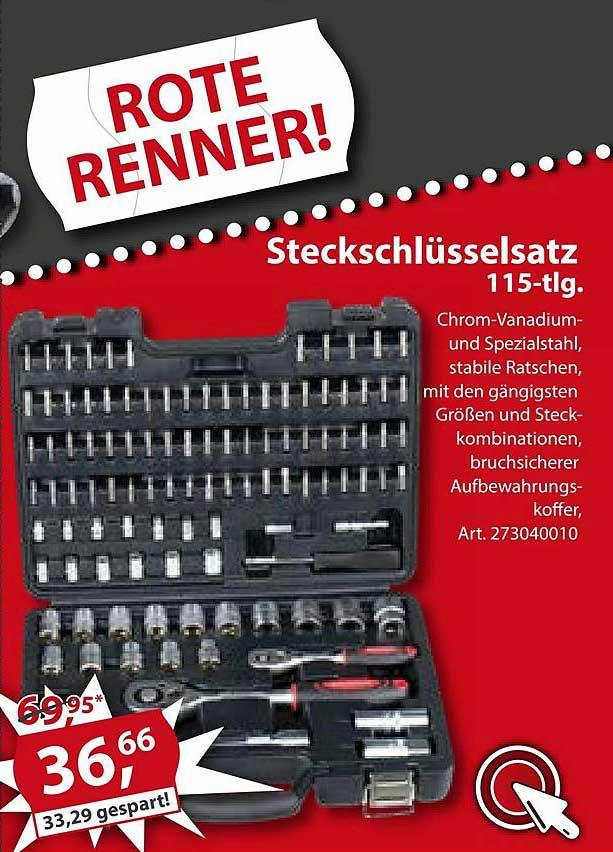 Sonderpreis Baumarkt Steckschlüsselsatz 115-tlg
