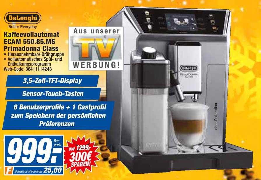 HEM Expert Delonghi Kaffeevollautomat Ecam 550.85.ms Promadonna Class