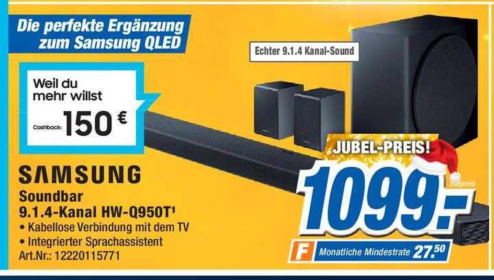 Expert Technomarkt Samsung Soundbar 9.1.4 Kanal Hw Q950t