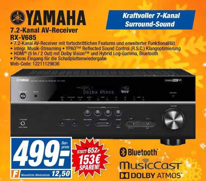 HEM Expert Yamaha 7.2- Kanal Av-receiver Rx-v685