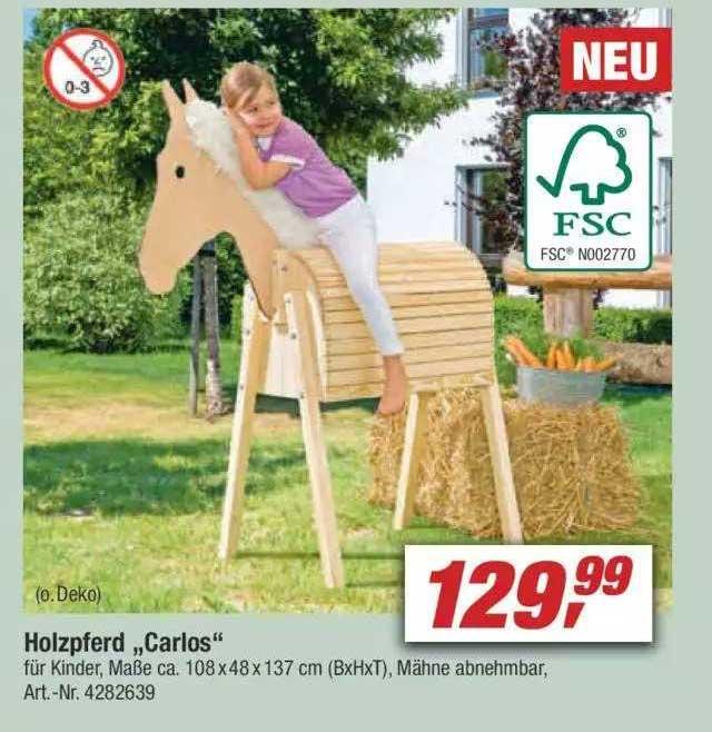 """Toom Baumarkt Holzpferd """"carlos"""""""