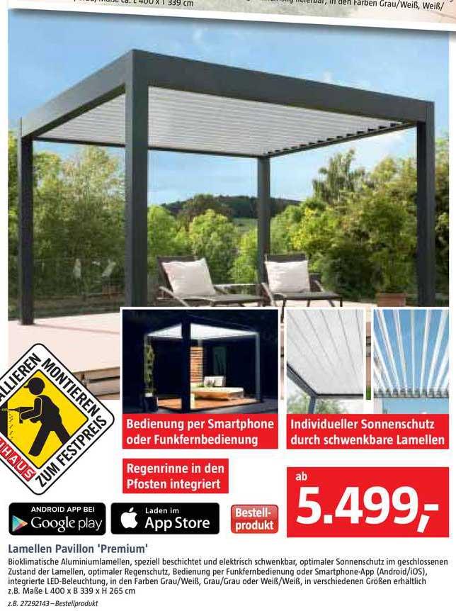 Bauhaus Lamellen Pavillon Premium