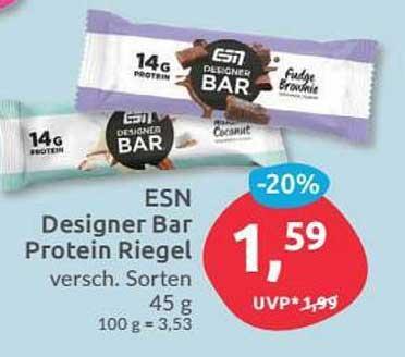 Budni Esn Designer Bar Protein Riegel