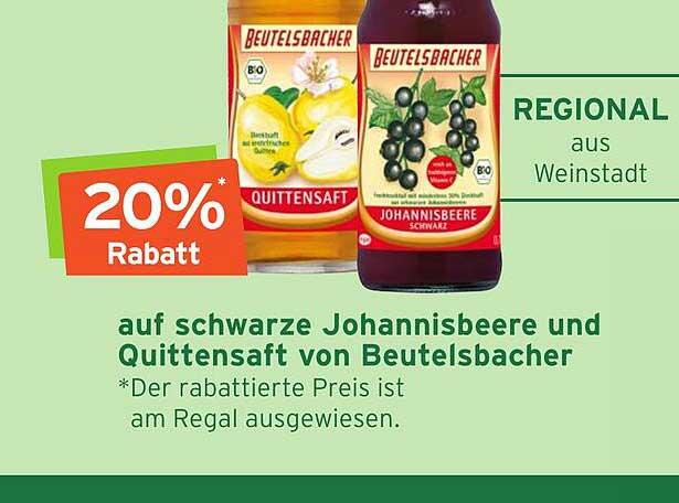 Naturgut Auf Schwarze Johannisbeere Und Quittensaft Von Beutelsbacher