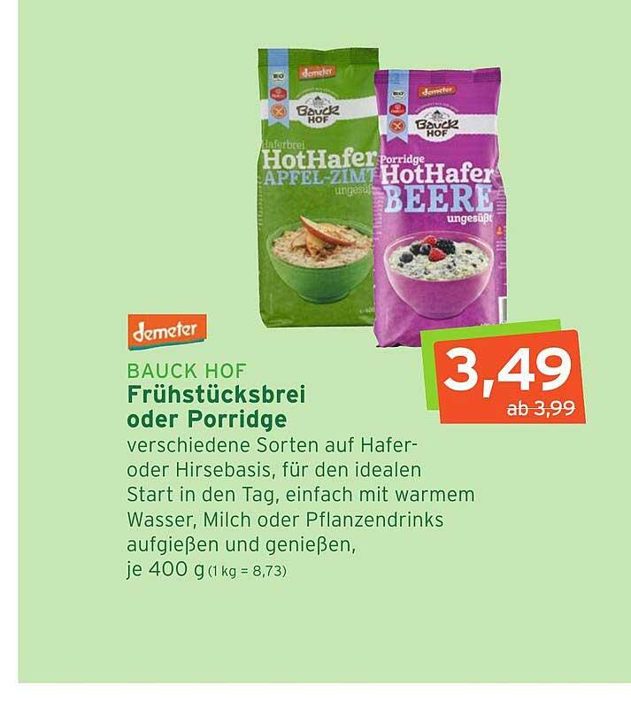Naturgut Bauck Hof Frühstücksbrei Oder Porridge