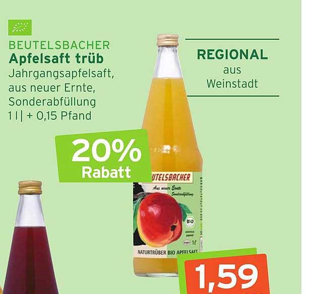 Naturgut Beutelsbacher Apfelsaft Trüb