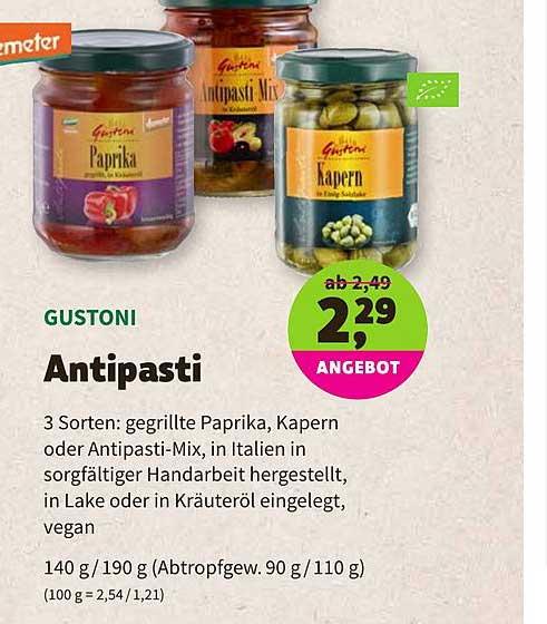 BioMarkt Demeter Gustoni Antipasti