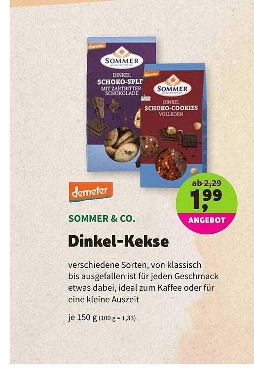 BioMarkt Demeter Sommer & Co. Dinkel-kekse