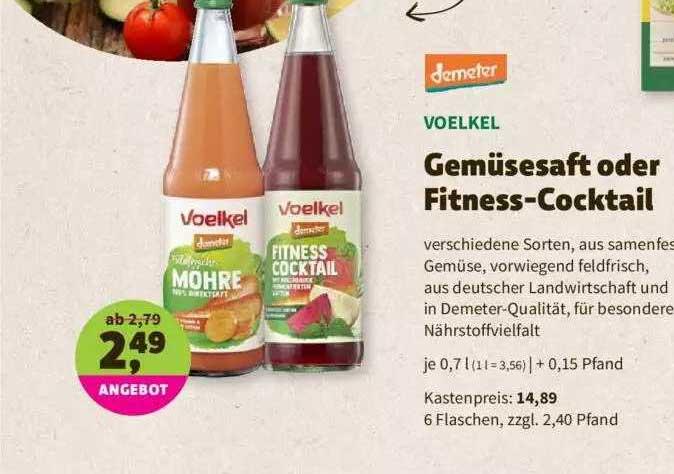 Denns Biomarkt Demeter Voelkel Gemüsesaft Oder Fitness-cocktail