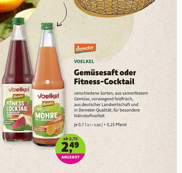BioMarkt Demeter Voelkel Gemüsesaft Oder Fitness-cocktail