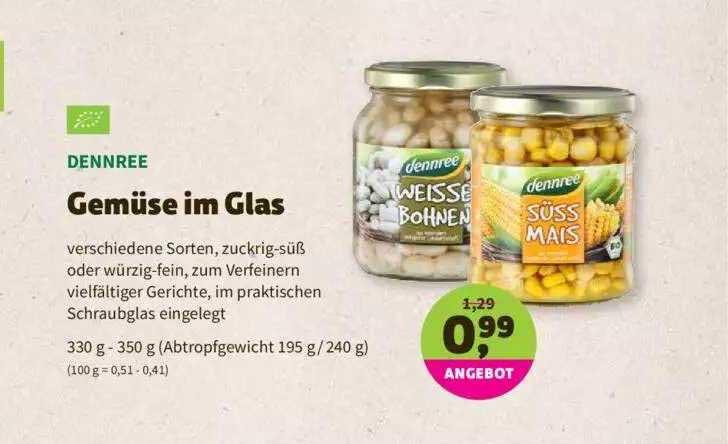 Denns Biomarkt Dennree Gemüse Im Glas