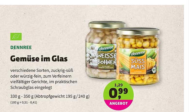 BioMarkt Denree Gemüse Im Glas