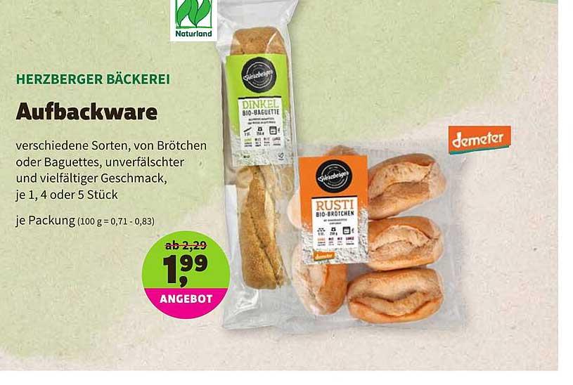 BioMarkt Herzberger Bäckerei Aufbackware