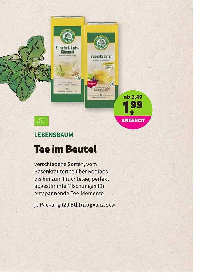 BioMarkt Lebensbaum Tee Im Beutel