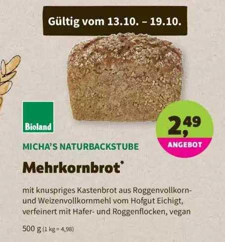 Denns Biomarkt Micha's Naturbackstube Mehrkornbrot