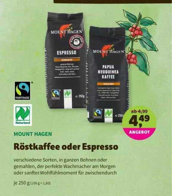 Denns Biomarkt Mount Hagen Röstkaffee Oder Espresso Naturland Fairtrade