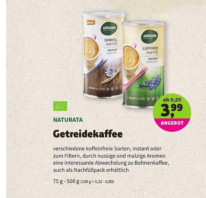 BioMarkt Naturata Getreidekaffee