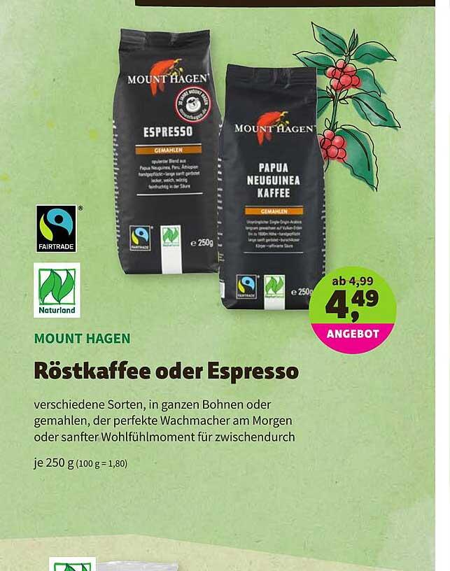 BioMarkt Naturland Mount Hagen Röstkaffee Oder Espresso