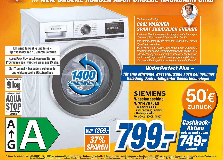Expert Octomedia Siemens Waschmaschine Wm14vg73ex